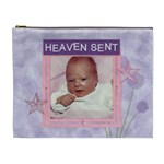 Heaven Sent Purple and Pink XL Cosmetic Bag - Cosmetic Bag (XL)