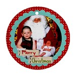 Merry Christmas Ornament - Ornament (Round)