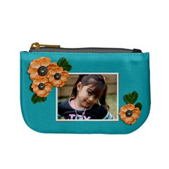 Mini Coin Purse   Flowers In Bloom By Jennyl   Mini Coin Purse   Qaw58ow2tuit   Www Artscow Com Front