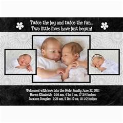 Twins 2 By Stacie Mehr   5  X 7  Photo Cards   B86zgx7iyqwk   Www Artscow Com 7 x5 Photo Card - 2