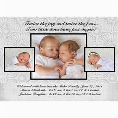 Twins 2 By Stacie Mehr   5  X 7  Photo Cards   B86zgx7iyqwk   Www Artscow Com 7 x5 Photo Card - 3