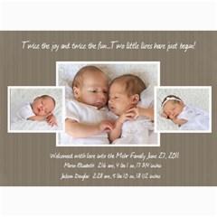 Twins 2 By Stacie Mehr   5  X 7  Photo Cards   B86zgx7iyqwk   Www Artscow Com 7 x5 Photo Card - 7