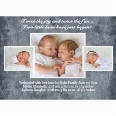 Twins 2 By Stacie Mehr   5  X 7  Photo Cards   B86zgx7iyqwk   Www Artscow Com 7 x5 Photo Card - 9