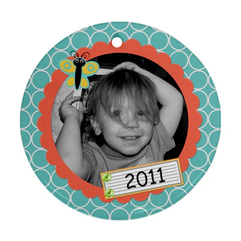 2011 Circle Ornament New By Martha Meier   Ornament (round)   8kqjwkbohw48   Www Artscow Com Front