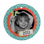 2011 Circle ornament new - Ornament (Round)