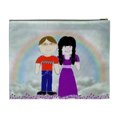 Cute Couple Cosmetic Bag Lg By Kim Blair   Cosmetic Bag (xl)   Anxjgsp98k1d   Www Artscow Com Back
