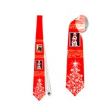 Gold and Silver Christmas Tie (2 sided) - Necktie (Two Side)