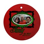 pizza family - Ornament (Round)
