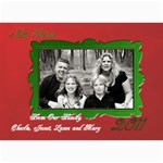 Red and Green Card - 5  x 7  Photo Cards