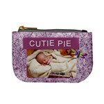 Cutie Pie Purple Mini Coin Purse