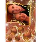 Golden 5x7 Christmas Card - Greeting Card 5  x 7