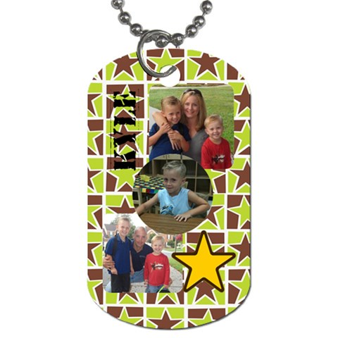 Kyle By Sommer Emery   Dog Tag (one Side)   Pcfow78rgwsq   Www Artscow Com Front