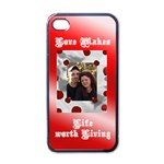 Love iphone 4 case - Apple iPhone 4 Case (Black)