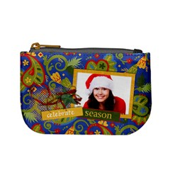 Paisley Christmas/holiday Mini Coin Purse By Mikki   Mini Coin Purse   Xhmx34qbgeb8   Www Artscow Com Front