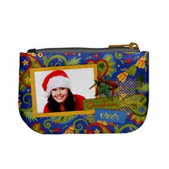 Paisley Christmas/holiday Mini Coin Purse By Mikki   Mini Coin Purse   Xhmx34qbgeb8   Www Artscow Com Back
