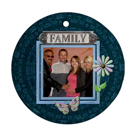 Family Round Ornament By Lil    Ornament (round)   3bi5uhmygasr   Www Artscow Com Front