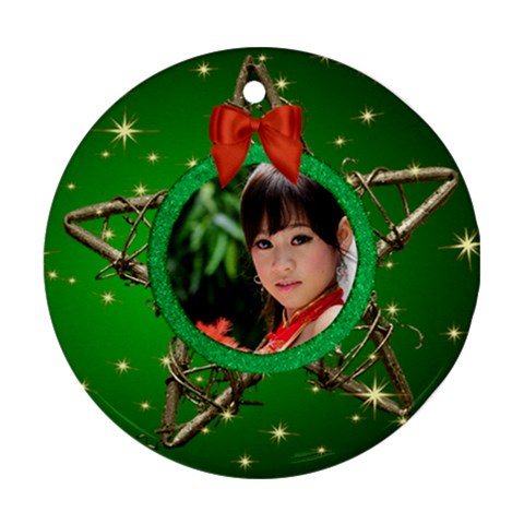 My Star Round Ornament By Deborah   Ornament (round)   Pzh2s9dhc2xy   Www Artscow Com Front