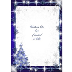 Snowflake Merry Christmas (blue) 5x7 Card By Deborah   Greeting Card 5  X 7    Dia5mlquqdbs   Www Artscow Com Front Inside