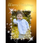 Rich Gold Christmas 5x7 Card - Greeting Card 5  x 7