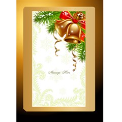 Rich Gold Christmas 5x7 Card By Deborah   Greeting Card 5  X 7    K8bkaojq0pe1   Www Artscow Com Back Inside
