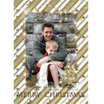 Gold and Silver Christmas Card (5x7) - Greeting Card 5  x 7