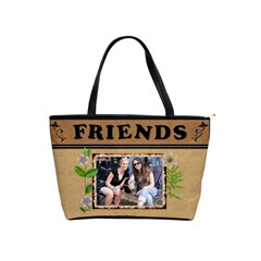 Floral Friends Classic Shoulder Handbag By Lil    Classic Shoulder Handbag   1cnarkz0gbwp   Www Artscow Com Front