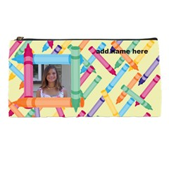 Crayon Pencil Case By Kim Blair   Pencil Case   Zsqpa4tj3swd   Www Artscow Com Front
