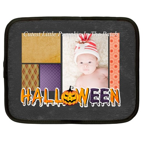 Halloween By Joely   Netbook Case (large)   Aujmk3p3dmxv   Www Artscow Com Front
