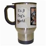 dog travel mug - Travel Mug (White)