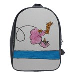 sommersaulting chick - School Bag (Large)