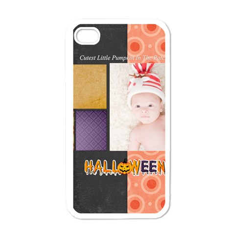 Halloween By Joely   Apple Iphone 4 Case (white)   Kc0o3adzkosf   Www Artscow Com Front