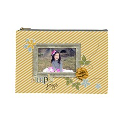 Cosmetic Bag (large): Simple Joys By Jennyl   Cosmetic Bag (large)   0q43bjs1uxm3   Www Artscow Com Front
