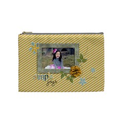 Cosmetic Bag (medium): Simple Joys By Jennyl   Cosmetic Bag (medium)   Dw0qcbbzt9cs   Www Artscow Com Front