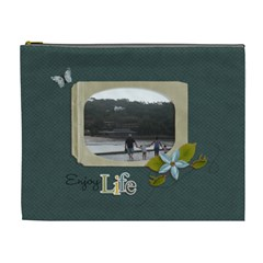 Cosmetic Bag (xl): Enjoy Life By Jennyl   Cosmetic Bag (xl)   2id5cumdcupy   Www Artscow Com Front