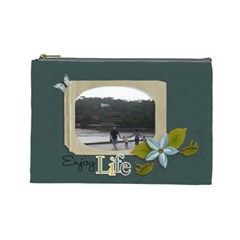 Cosmetic Bag (large): Enjoy Life By Jennyl   Cosmetic Bag (large)   Ae95m73vpygs   Www Artscow Com Front