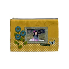 Cosmetic Bag (medium): Enjoy Life By Jennyl   Cosmetic Bag (medium)   8oko733cg3gv   Www Artscow Com Front