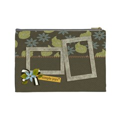 Cosmetic Bag (large): Simple Joys2 By Jennyl   Cosmetic Bag (large)   Oe8efkq5z22k   Www Artscow Com Back