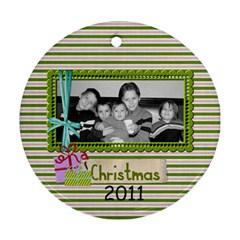 2011 Circle Ornament 2 Sided 3 By Martha Meier   Round Ornament (two Sides)   O5xlmqsdfww7   Www Artscow Com Front