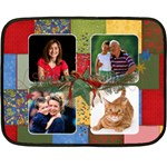 Christmas/Holiday -mini fleece blanket - Fleece Blanket (Mini)