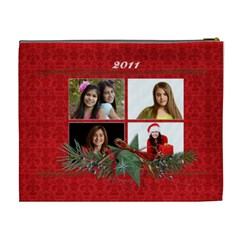 Chrismtas/holiday Cosmetic Bag (xl) By Mikki   Cosmetic Bag (xl)   Chf3mmf6av0h   Www Artscow Com Back