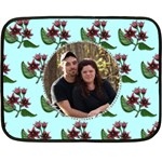 floral blanket - Fleece Blanket (Mini)