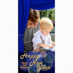 Happy New Year 4x8 Photo Card 2 (blue) By Deborah   4  X 8  Photo Cards   N5lsp6zuzuwg   Www Artscow Com 8 x4 Photo Card - 10