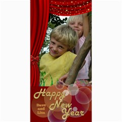 Happy New Year 4x8 Photo Card 2 (red) By Deborah   4  X 8  Photo Cards   Jtezwerdpq30   Www Artscow Com 8 x4 Photo Card - 2
