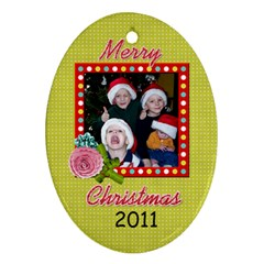 2011 Oval Ornament 2 Sided 2 By Martha Meier   Oval Ornament (two Sides)   2xmamgny4u69   Www Artscow Com Front