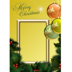 Merry Christmas In Yellow 5x7 Card By Deborah   Greeting Card 5  X 7    Ax3ctxle8dkv   Www Artscow Com Front Cover