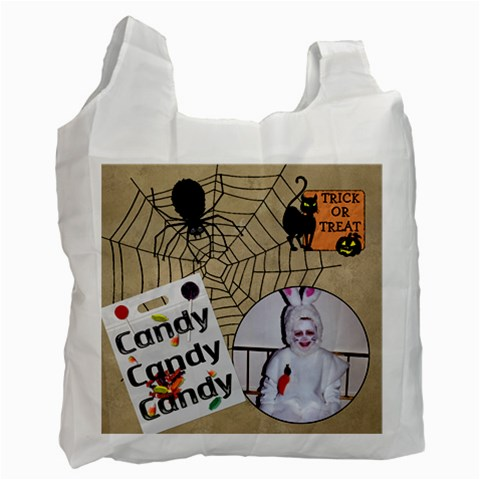 Trick Or Treat Recycle Bag By Lil    Recycle Bag (one Side)   Bo9wv0raeesx   Www Artscow Com Front