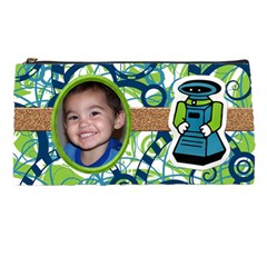 Robot Pencilbag By Angela Anos   Pencil Case   L2as448gzpd3   Www Artscow Com Front