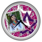 Wall Clock Silver - Girl - Wall Clock (Silver)