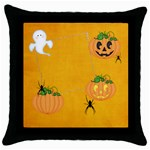 halloween pillow case - Throw Pillow Case (Black)