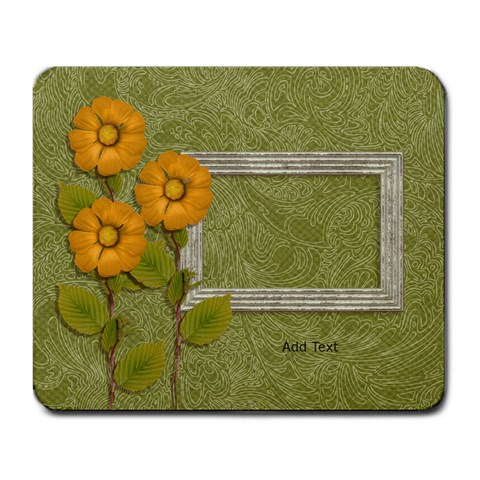 Mousepad: Yellow Flowers By Jennyl   Large Mousepad   L70jn2tdpit4   Www Artscow Com Front